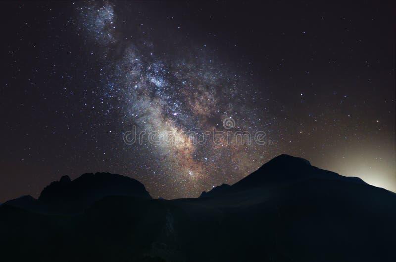 Melkweg over Onderstel Olympus royalty-vrije stock fotografie