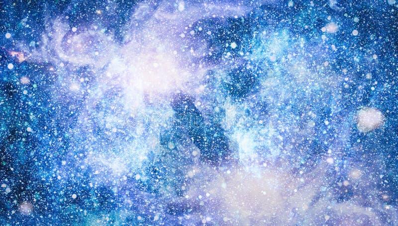 Melkweg in ruimte, schoonheid van heelal, zwart gat Elementen door NASA worden geleverd die stock foto