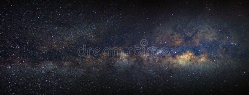 Melkweg van de panorama de Melkachtige manier met sterren en ruimtestof in unive royalty-vrije stock foto