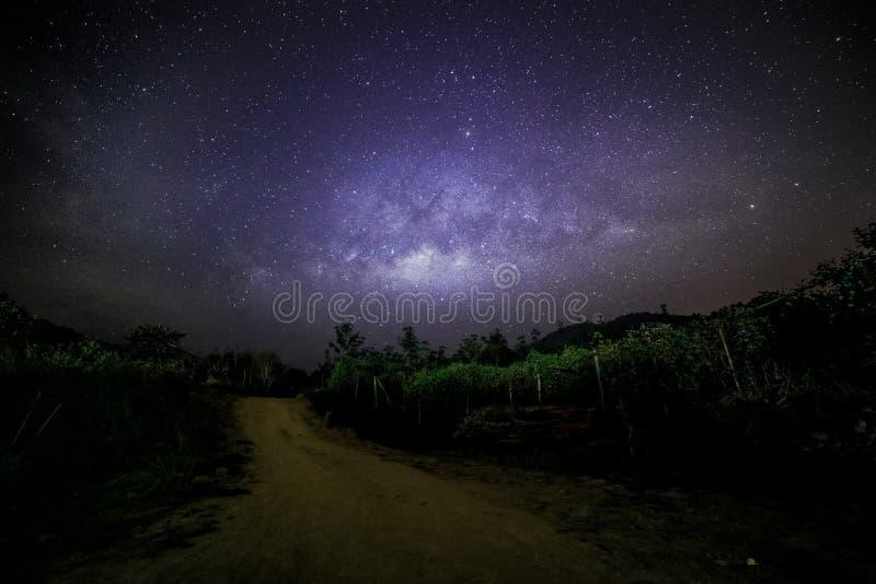 Melkweg zoals gezien in Gopeng Perak Maleisië Asia royalty-vrije stock fotografie