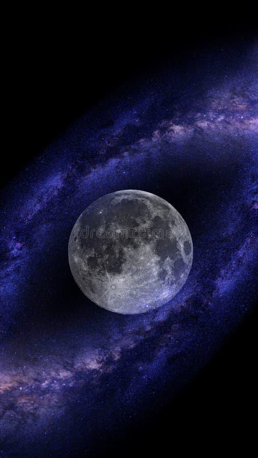 Melkwega systeem van miljoenen of miljarden sterren, samen met gas en stof, dat door gravitatieaantrekkelijkheid wordt samengehou royalty-vrije stock afbeeldingen