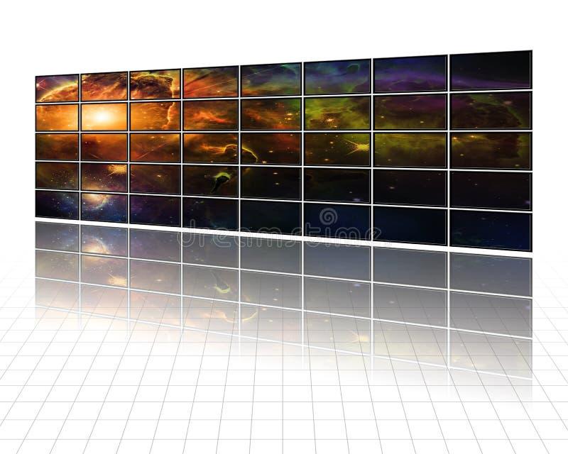 Melkwegen en sterren op de schermen vector illustratie