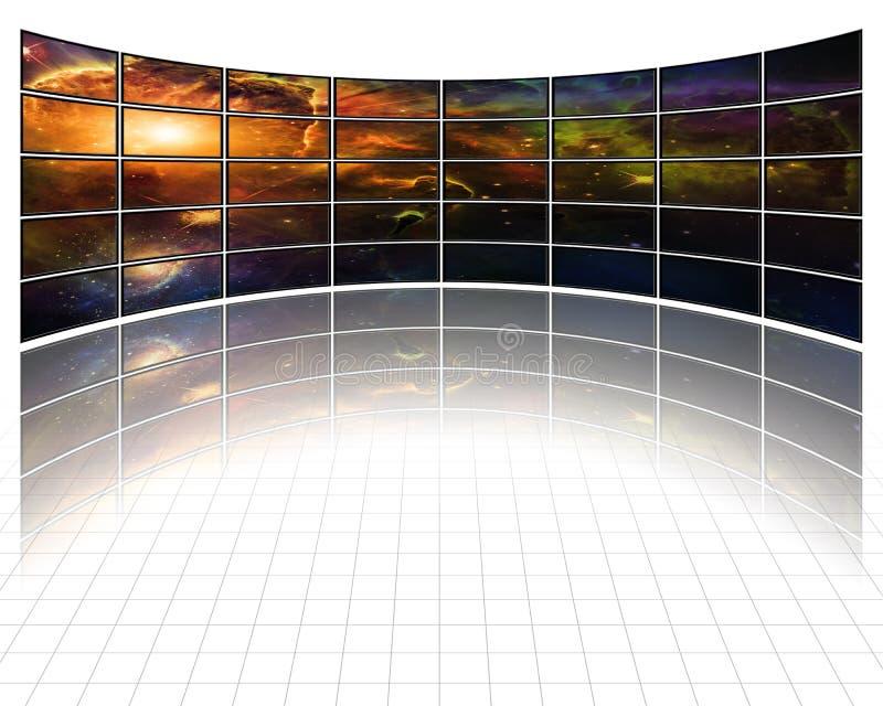 Melkwegen en sterren op de schermen stock illustratie