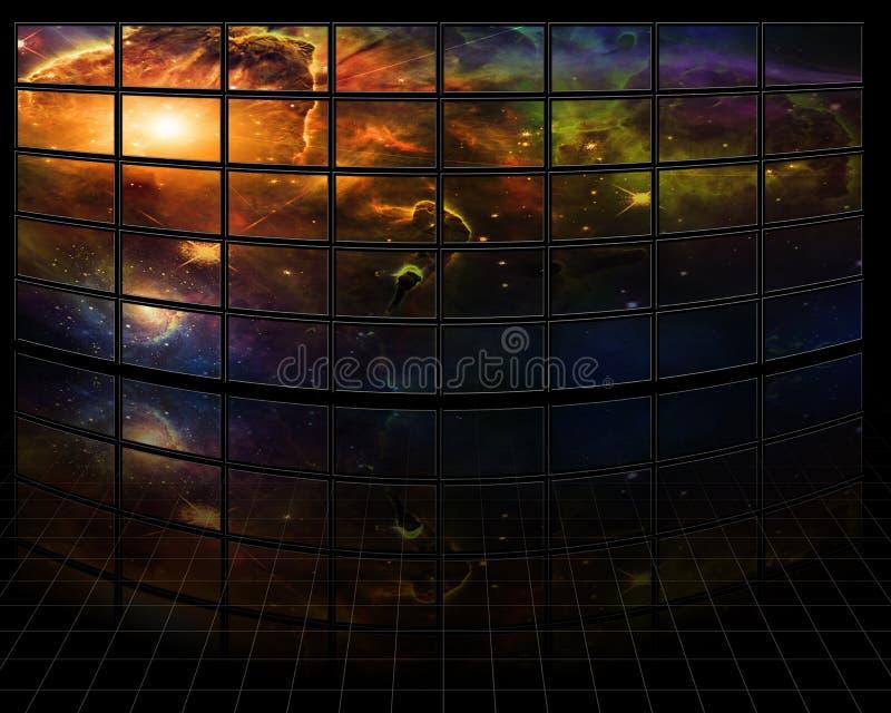 Melkwegen en sterren stock illustratie