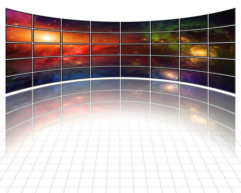 Melkwegen en sterren op de schermen in wit vector illustratie