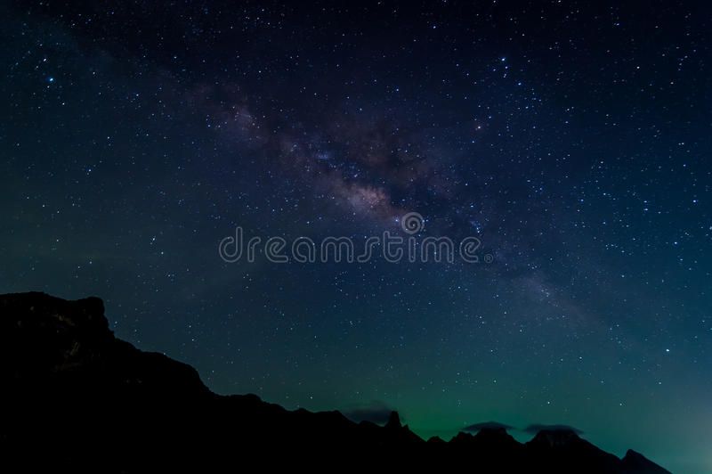 Melkwegmelkweg en Ster stock afbeeldingen