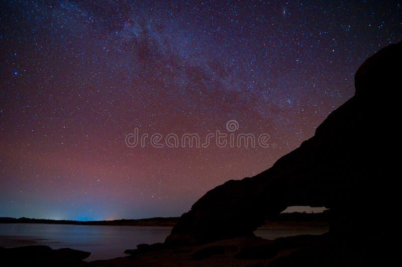 Melkwegmelkweg en Sterren in Nachthemel royalty-vrije stock fotografie