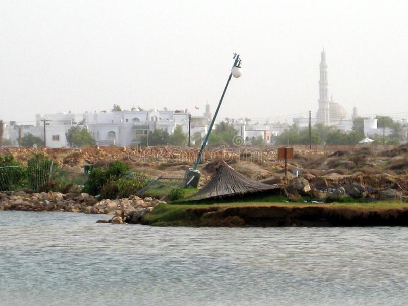 Mellanösten Oman, pittoresk sikt över Muscat Oman landskapfotografi arkivfoto