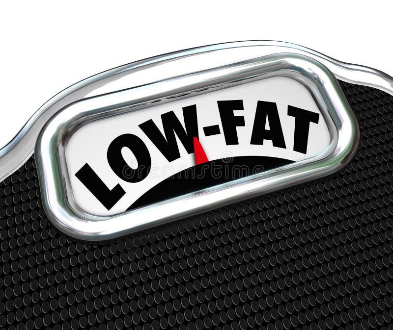 Mellanmål för val för mat för mager ordskala näringsrika stock illustrationer