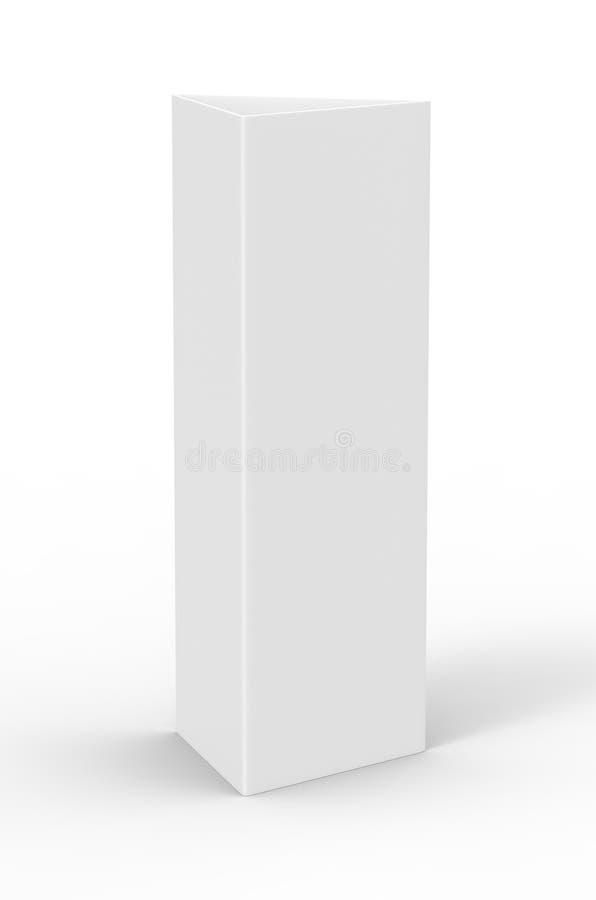 Mellanrum för vit för kort för meny för minnestavlatältpratmakare som befordrings- är tomt för övre design för åtlöje och tolknin vektor illustrationer