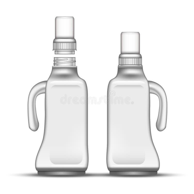 Mellanrumet bleker den plast- flaskan med handtagvektorn vektor illustrationer