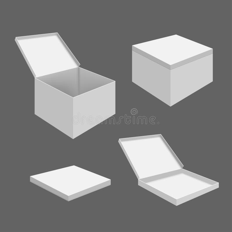 mellanrumet boxes white vektor illustrationer