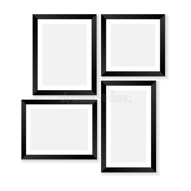 mellanrumet inramniner fotoet vektor illustrationer
