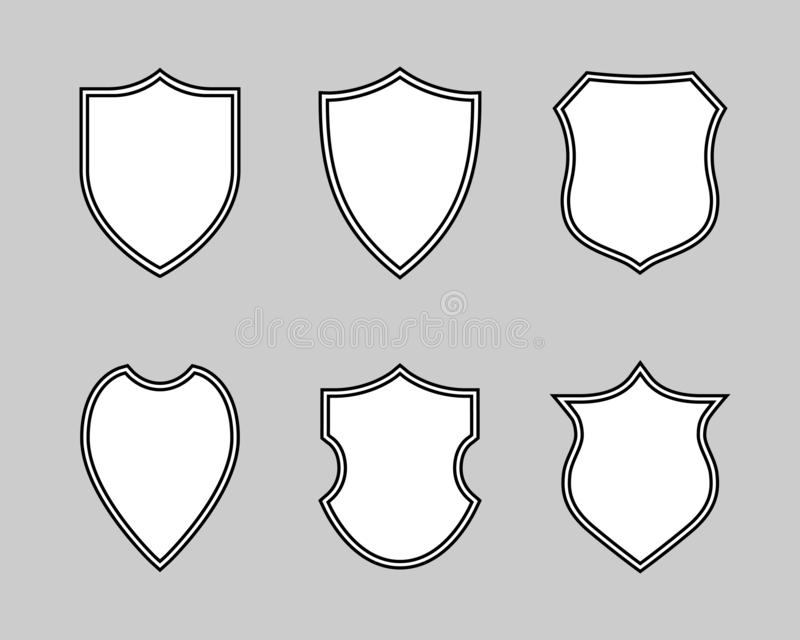 Mellanrumet skyddar grafiska fastst?llda symboler som skyddssymbol vektor illustrationer