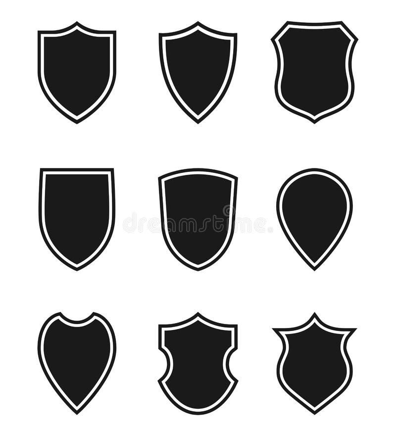 Mellanrumet skyddar grafiska fastst?llda symboler som skyddssymbol royaltyfri illustrationer