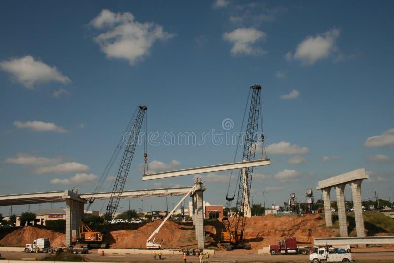 Mellanstatlig konstruktion för bro 69 nära Houston, Texas royaltyfri fotografi
