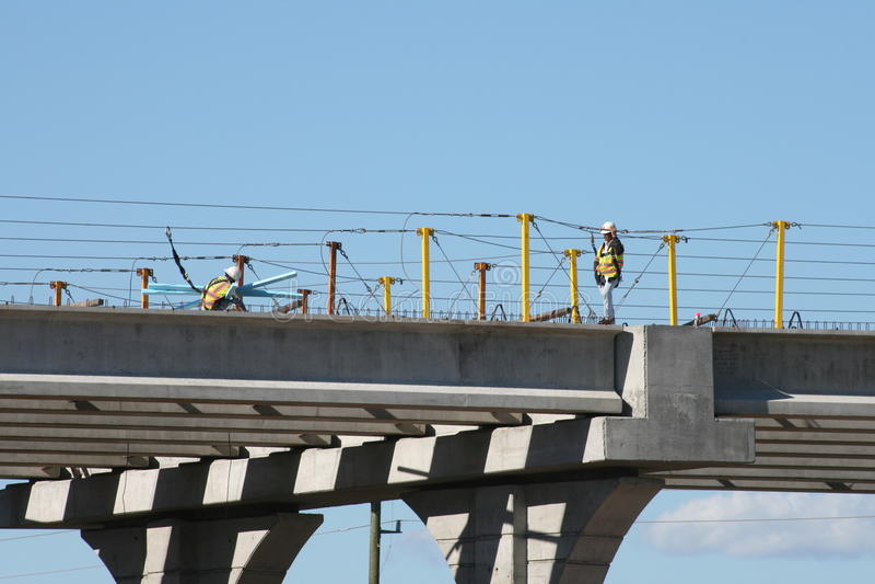 Mellanstatlig konstruktion för bro 69 nära Houston, Texas arkivbilder