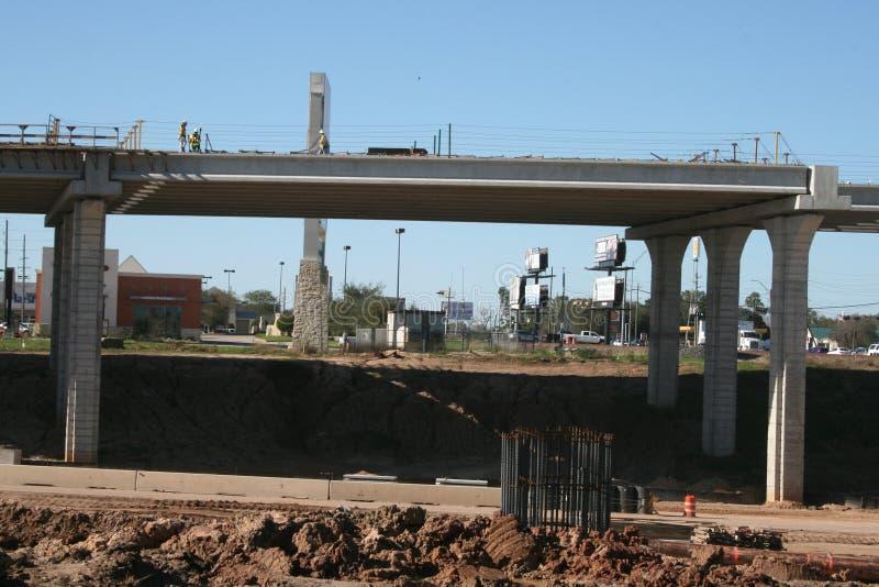 Mellanstatlig konstruktion för bro 69 nära Houston, Texas royaltyfria bilder