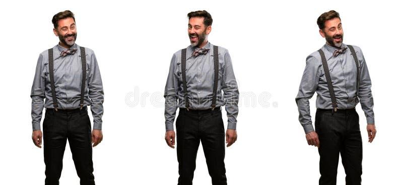 Mellersta ålderman som bär en dräkt arkivfoto