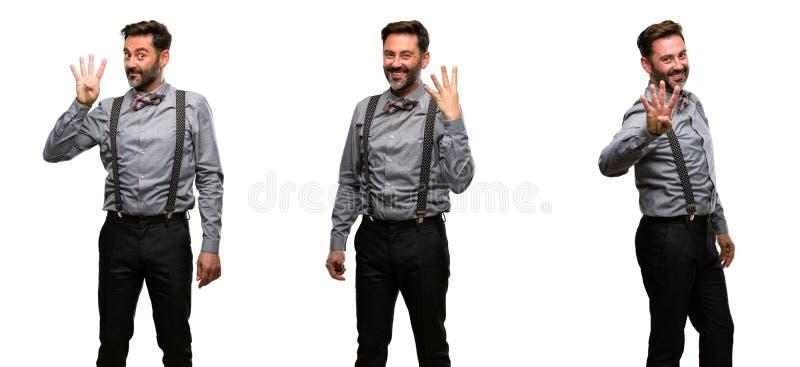 Mellersta ålderman som bär en dräkt royaltyfria bilder