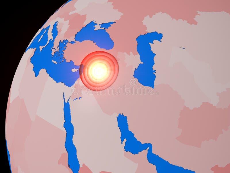 Mellersta östlig krigfläck vektor illustrationer