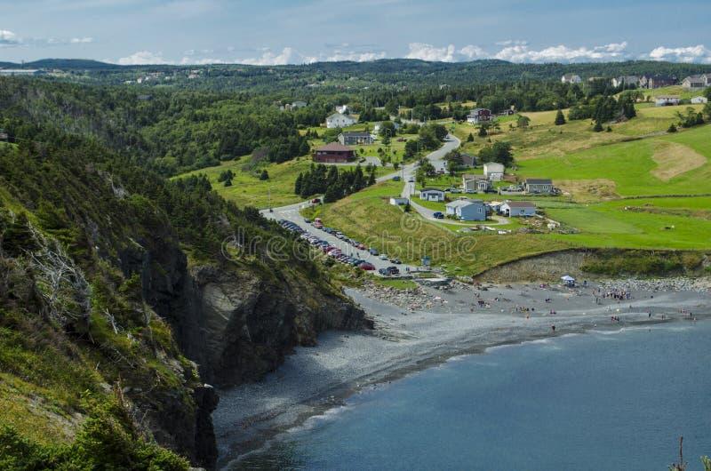 Mellersta liten vikstrand, Newfoundland, Kanada royaltyfria foton