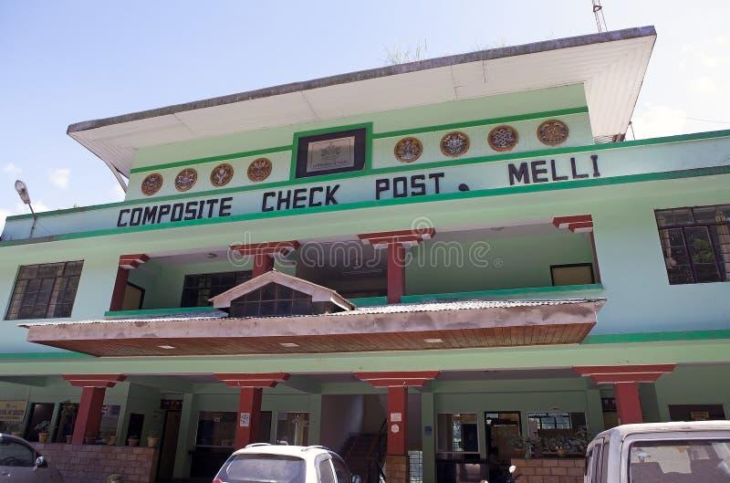 Melli słup graniczny, India zdjęcia stock