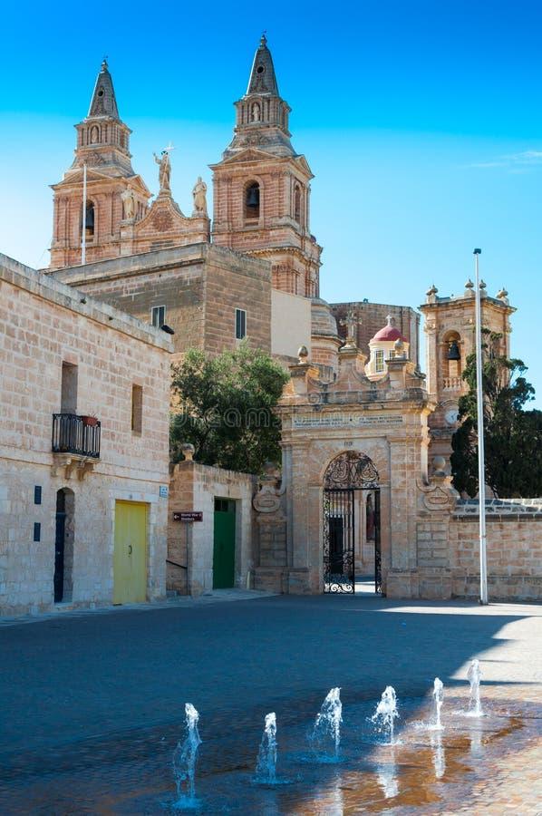 Mellieha in Malta. City Mellieha in Malta island and his church royalty free stock photography