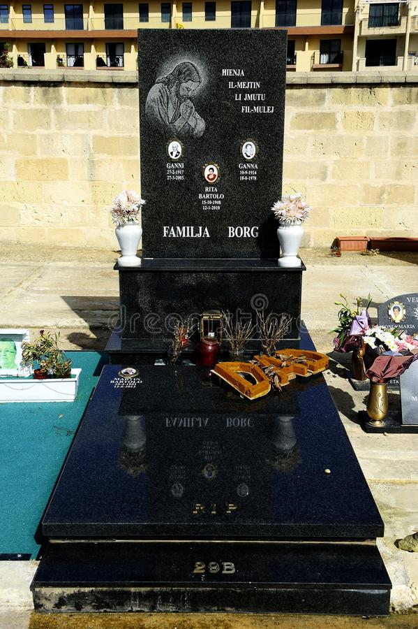 The cemetery of National Sanctuary of our Lady of Mellieha stock photos