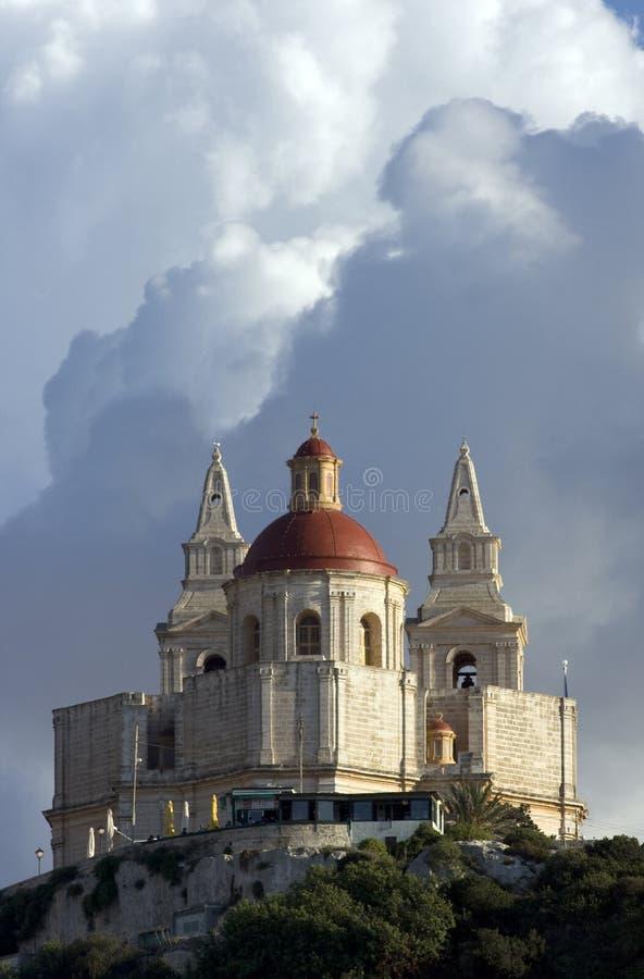 mellieha ST Mary εκκλησιών στοκ εικόνες