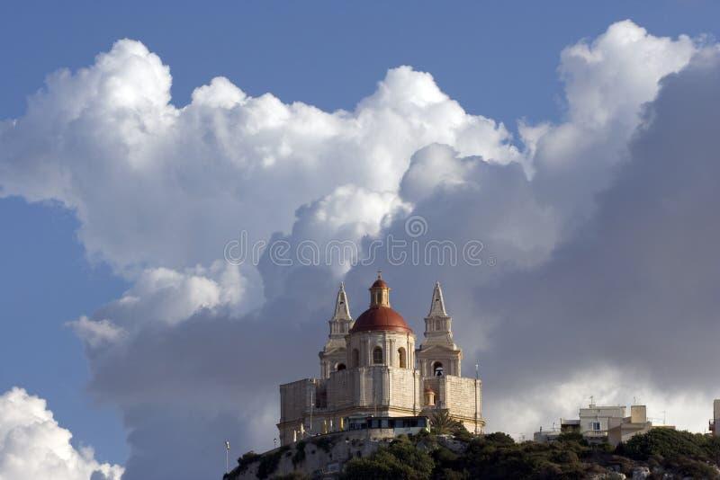 mellieha ST Mary εκκλησιών στοκ φωτογραφίες