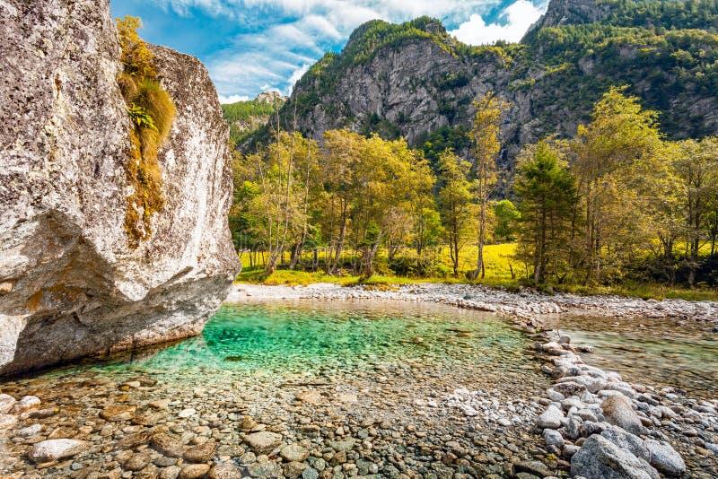 Mello valley - Valtellina IT. Mello valley lake - Valtellina IT stock image