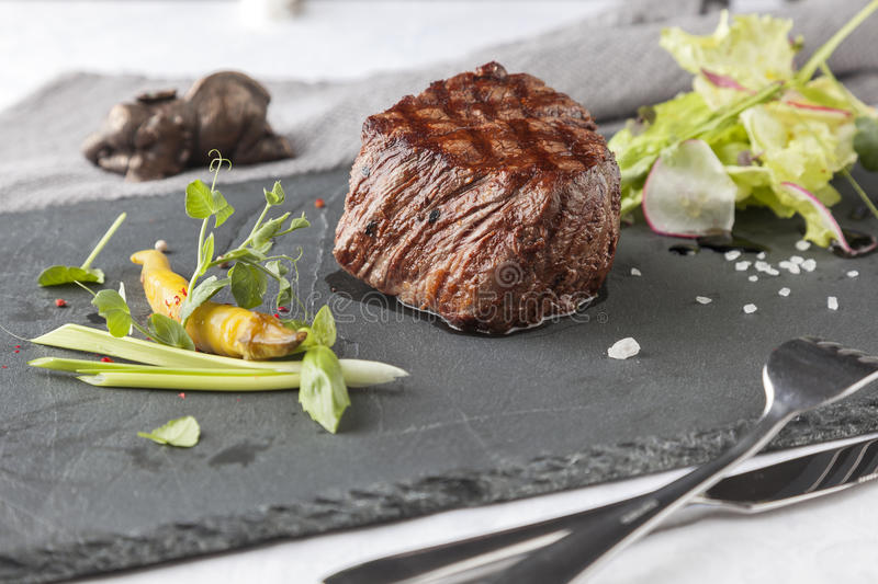 A mellow Chateaubriand stock photography