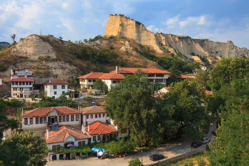Download Melnik, Bulgaria stock image. Image of medieval, aerial - 28648417