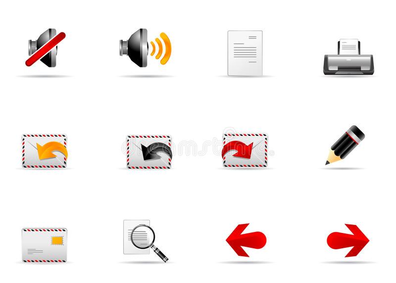 Melo Ikonenset. Site- und Internet-Ikone #2 lizenzfreie abbildung