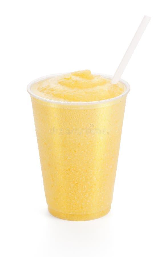 Melocotón, mango, o Smoothie anaranjado imagenes de archivo