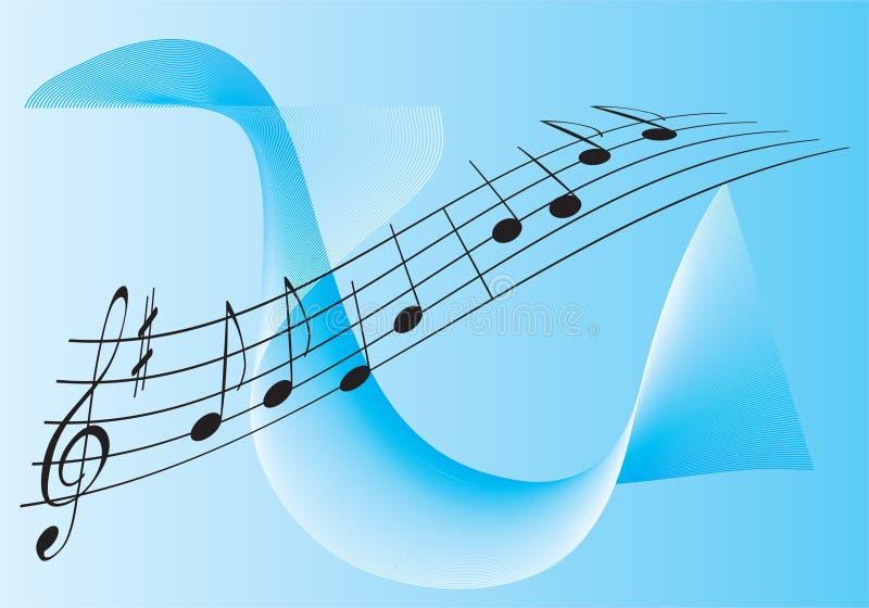 Melodía para dos ilustración del vector