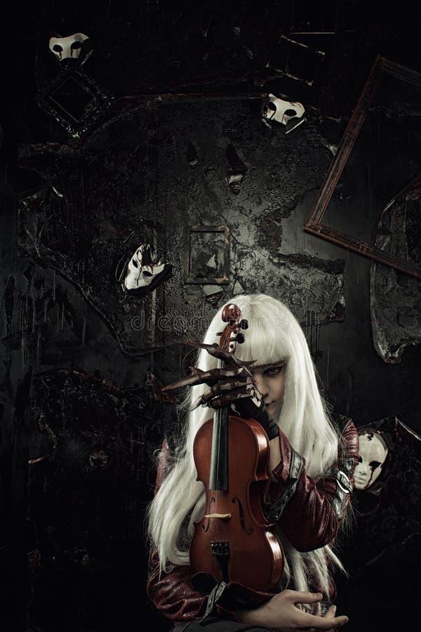 Melodia del lato oscuro fotografia stock