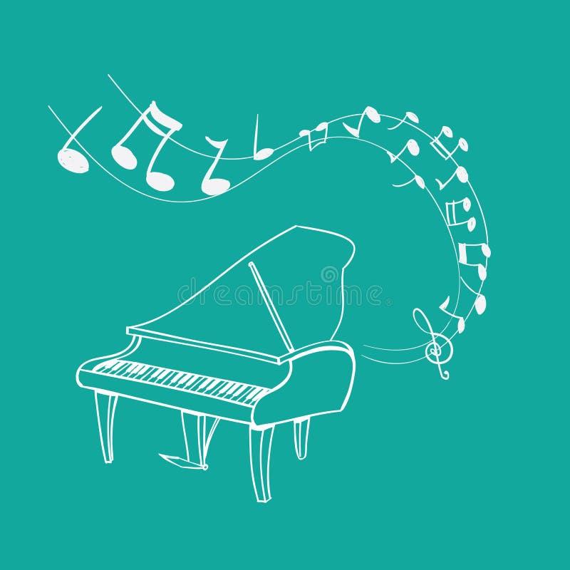 Melodia do piano ilustração royalty free