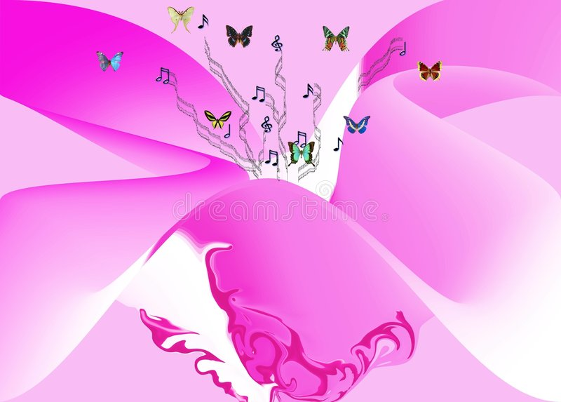 Melodia e cor-de-rosa fotografia de stock royalty free