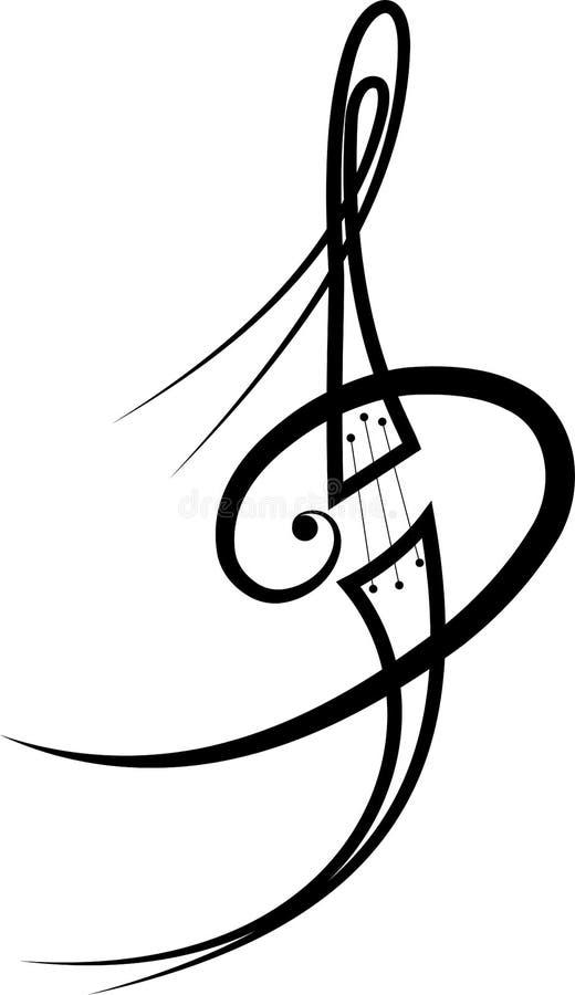 Melodia tatuaż ilustracji