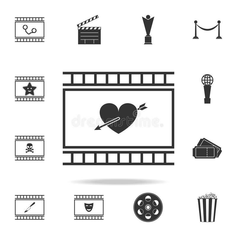 melodrama icon. Set of cinema element icons. Premium quality graphic design. Signs and symbols collection icon for websites, web stock illustration