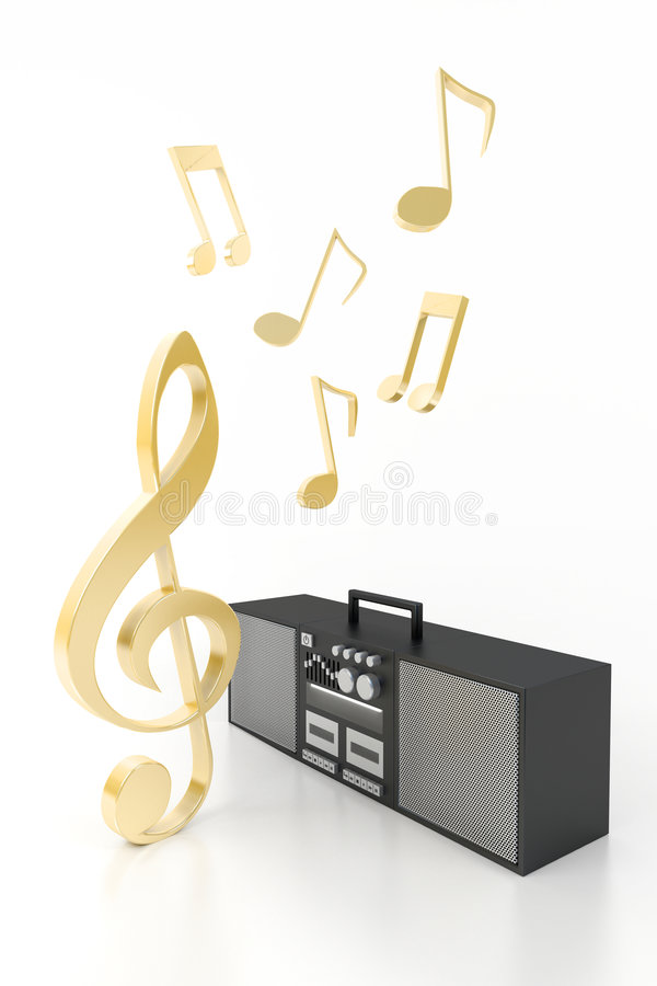 Download Melody and music stock illustration. Image of audio, studio - 4403443