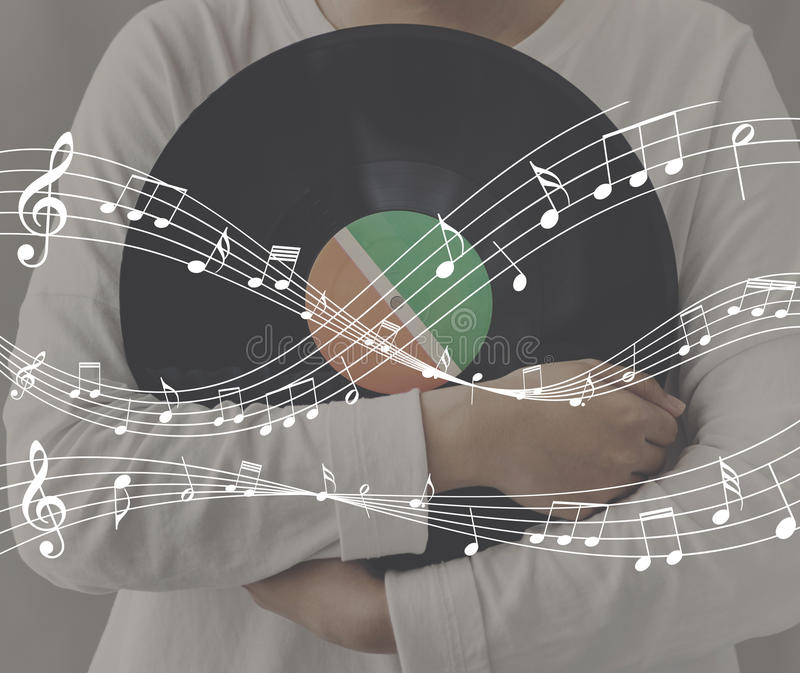 Melody Music Note Rhythm Graphic Concept. Melody Music Note Rhythm Graphic royalty free stock photography