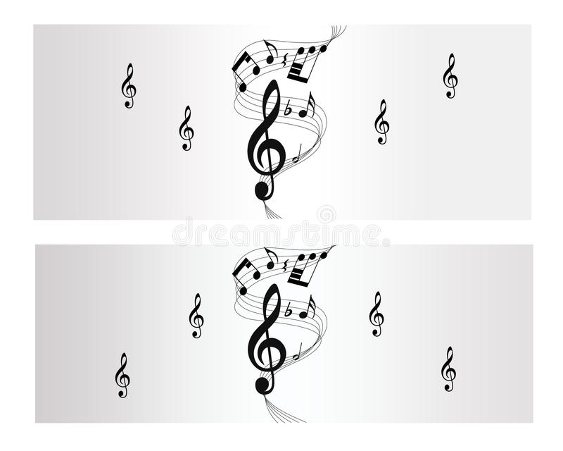 Download Melody, Note And Music Vector Banner Stock Illustration - Image: 29971576