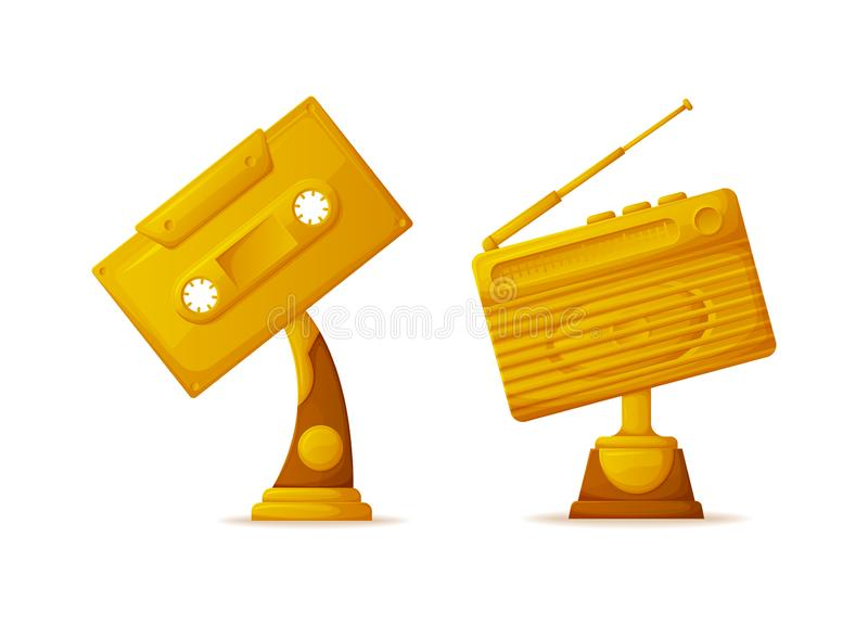 Melody Tape and Radio Gold Awards for Winners royalty free illustration