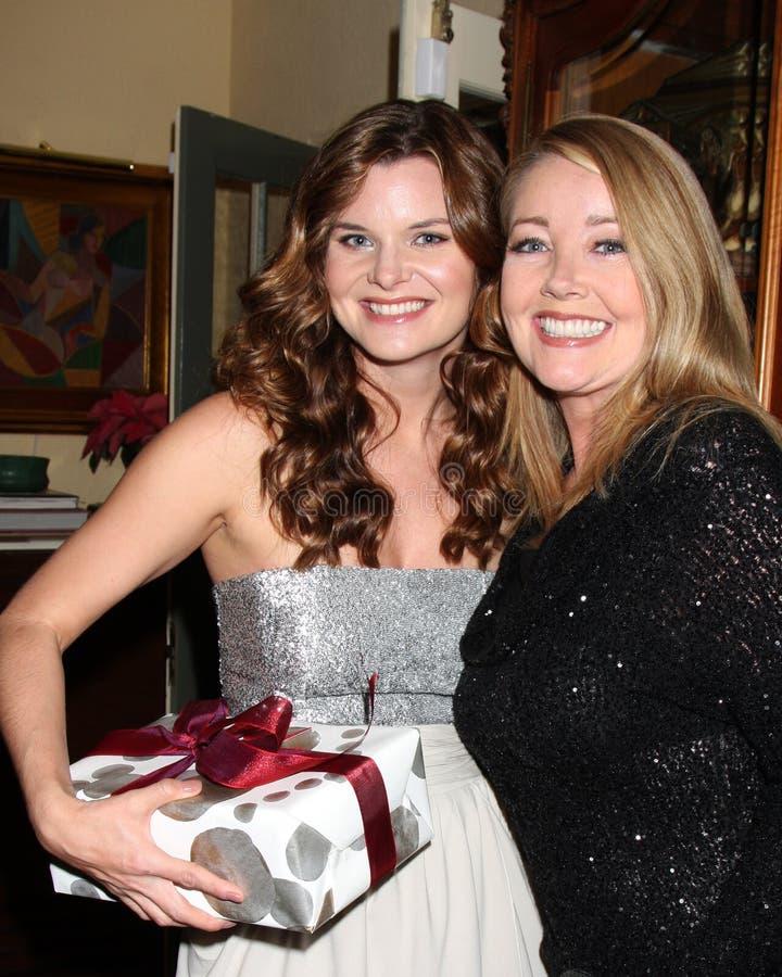 Melody Thomas Scott, Heather Tom imagen de archivo libre de regalías