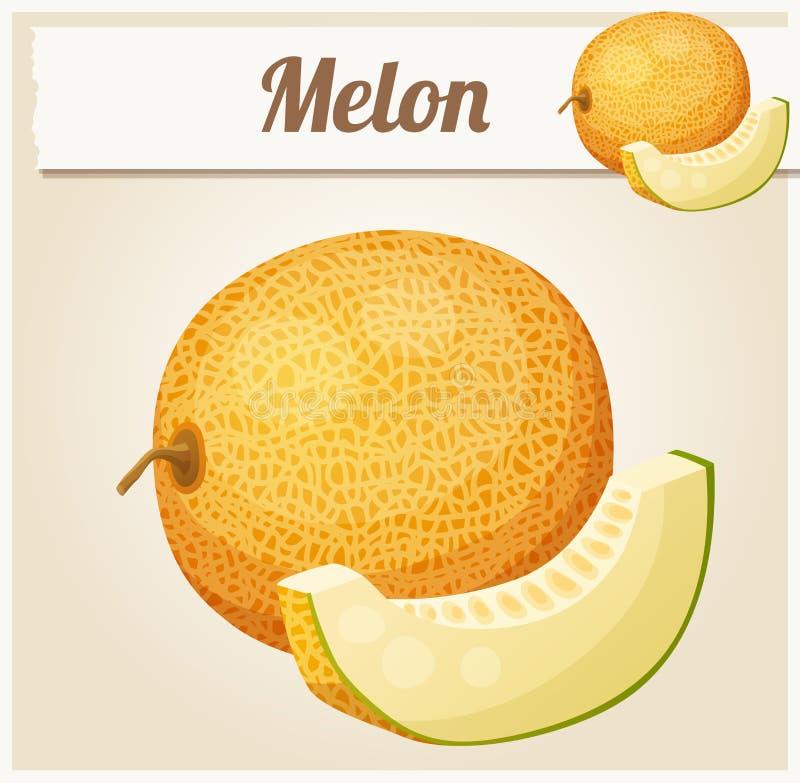 meloen Beeldverhaal vectorpictogram stock illustratie