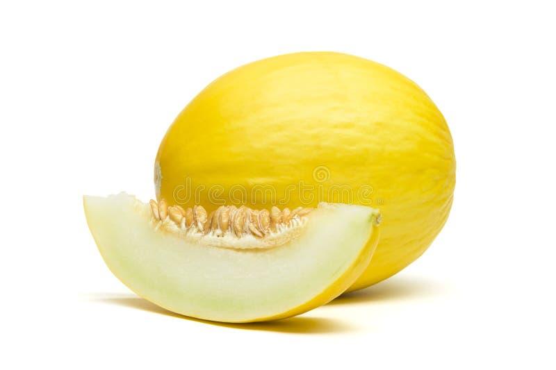 Meloen met plak royalty-vrije stock foto's