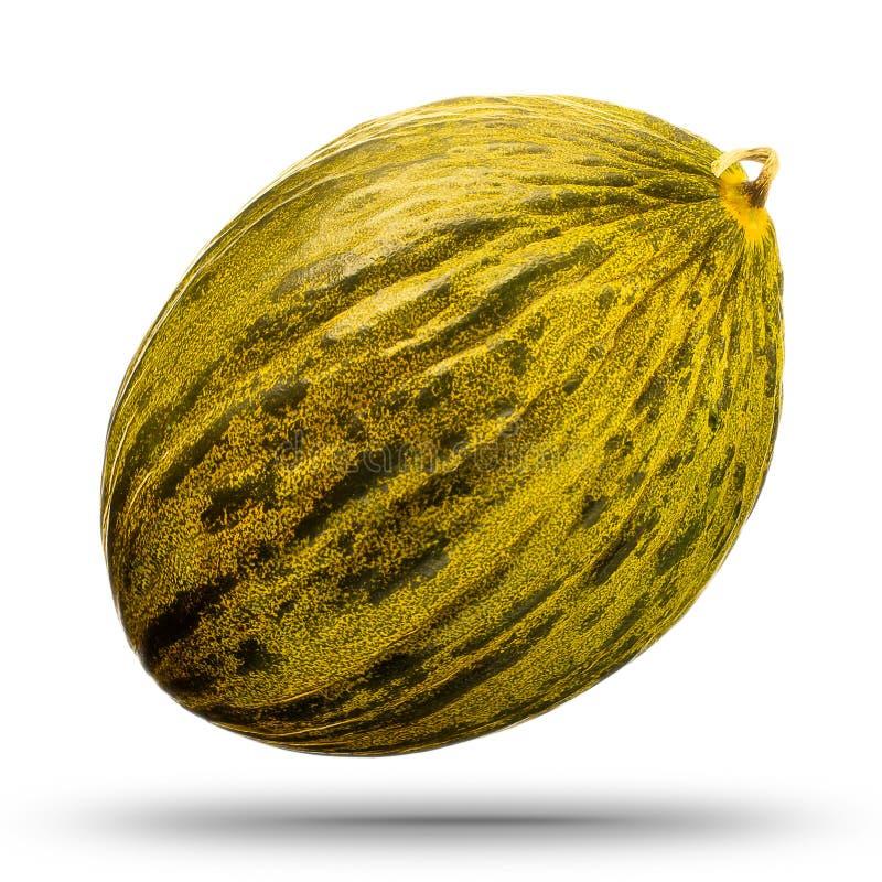 Meloen op witte achtergrond wordt geïsoleerd die Knippende weg royalty-vrije stock afbeeldingen